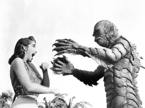 Creature from the Black Lagoon, Julie Adams, Ben Chapman, 1954 Photo