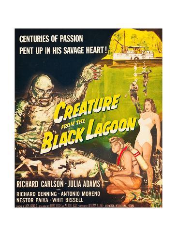 Creature from the Black Lagoon, Richard Carlson, Julie Adams, 1954 Photo
