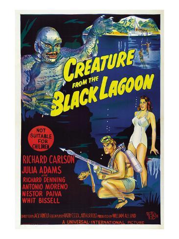 Creature from the Black Lagoon, Richard Carlson, Julie Adams, 1954 写真