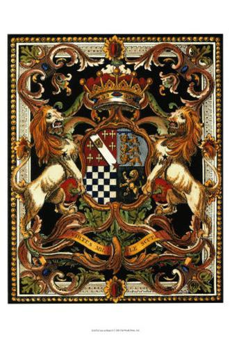 Crest on Black II Art Print