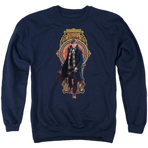 Crewneck Sweatshirt: Fantastic Beasts- Newt Scamander Badge Crewneck Sweatshirt