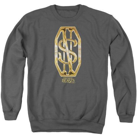 Crewneck Sweatshirt: Fantastic Beasts- Scamander Golden Monogram Crewneck Sweatshirt