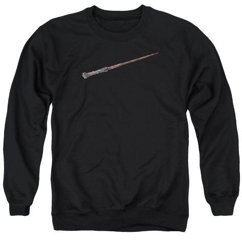 Crewneck Sweatshirt: Harry Potter- Holly And Phoenix Feather Core Wand Crewneck Sweatshirt