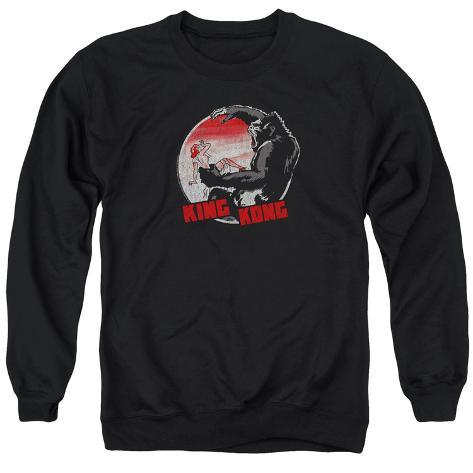 Crewneck Sweatshirt: King Kong- Beauty Vs. The Beast Pin Crewneck Sweatshirt