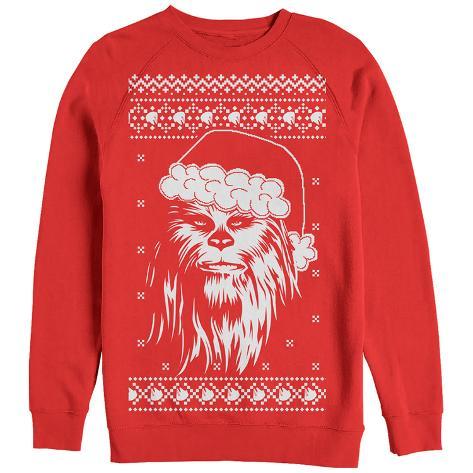 Crewneck Sweatshirt: Star Wars- Festive Chewy Holiday Sweater Moletom gola careca