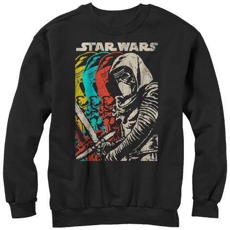 Crewneck Sweatshirt: Star Wars The Force Awakens- Color Scal Ren Crewneck Sweatshirt