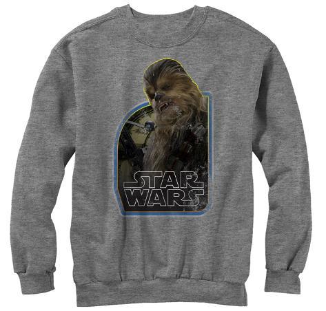 Crewneck Sweatshirt: Star Wars The Force Awakens- Wookie Copilot Crewneck Sweatshirt