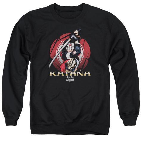 Crewneck Sweatshirt: Suicide Squad- Katana On Guard Crewneck Sweatshirt