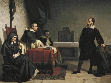 Galileo before the Roman Inquisition, 1857 Lámina giclée
