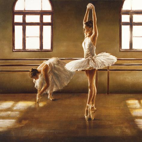 Dançarinos de balé Impressão artística