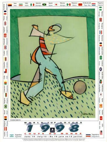 1998 World Cup Soccer Flags Poster