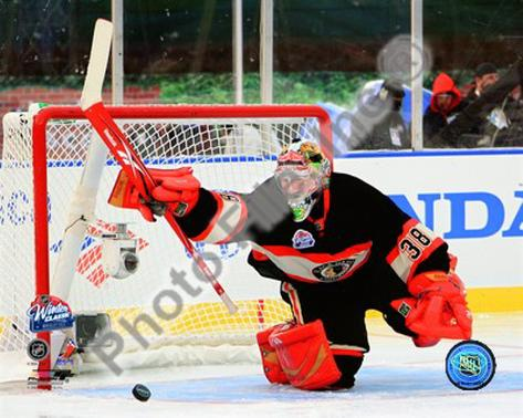 Cristobal Huet 2008-09 NHL Winter Classic Framed Photographic Print