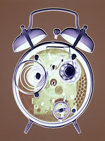Cross-section of Alarm Clock Photographic Print