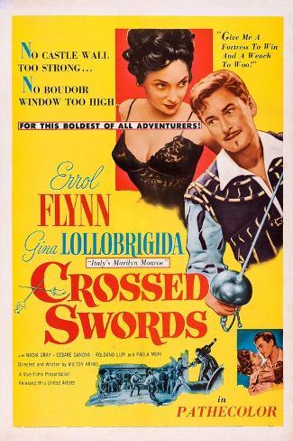 Crossed Swords Impressão artística