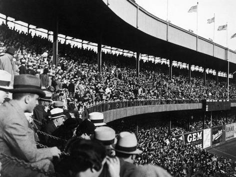 Crowd Attending a New York Yankee Baseball Game at Yankee Stadium Photographic Print