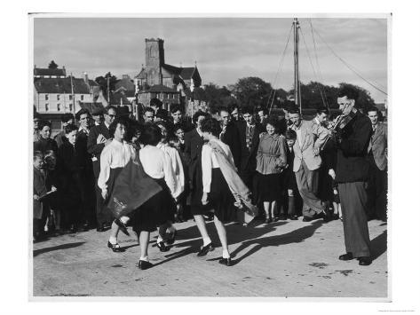 Crowd Watching Girls Performing Traditional Irish Dancing at Killybegs County Donegal Ireland Giclee Print