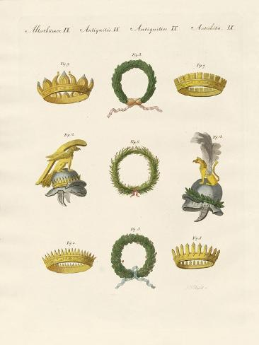 Crowns from the Ancients Stampa giclée