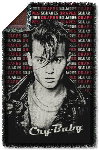 Cry Baby - Drapes & Squares Woven Throw Throw Blanket