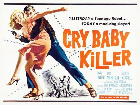 Cry Baby Killer, title card, 1958 Art Print
