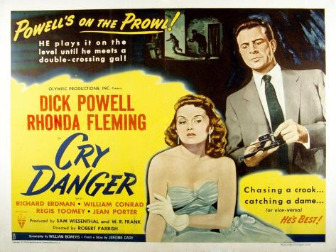 Cry Danger, Rhonda Fleming, Dick Powell, 1951 Photo