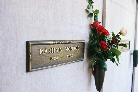 Crypt of Marilyn Monroe Stampa fotografica