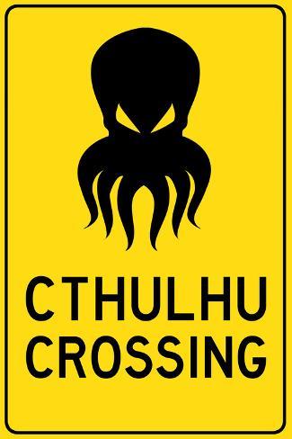 Cthulhu Crossing Creature Art Print