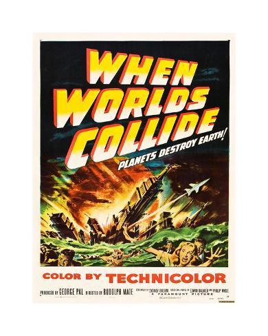 Cuando los mundos chocan|When Worlds Collide Lámina giclée