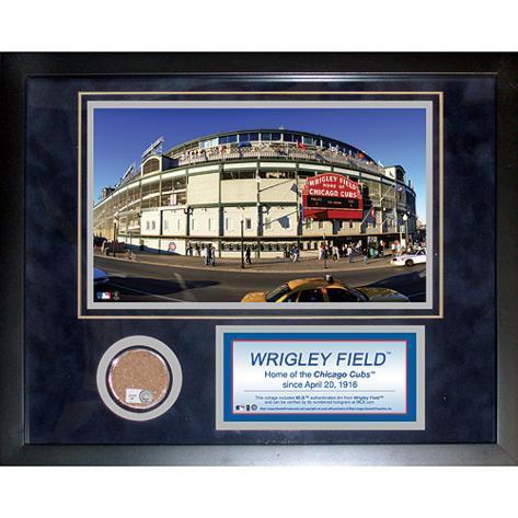 Cubs- Wrigley Field 2010 Mini Dirt Collage Framed Memorabilia
