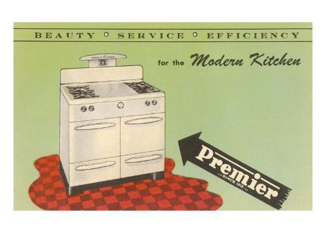 Stampe Cucina Moderna : Cucina a gas moderna anni quaranta stampe su allposters