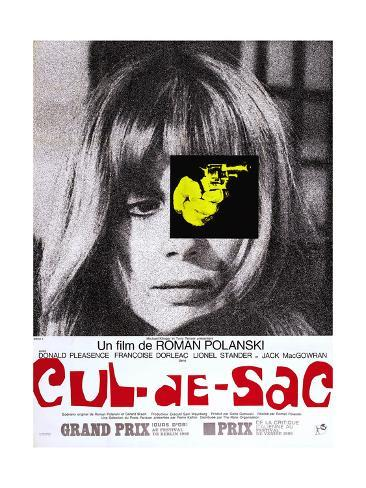 Cul-De-Sac, Francoise Dorleac on French Poster Art, 1966 Giclee Print