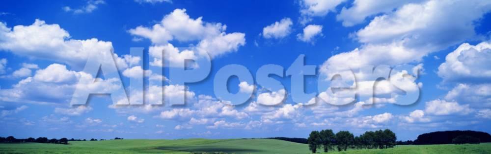 オールポスターズの cumulus clouds with landscape blue sky germany