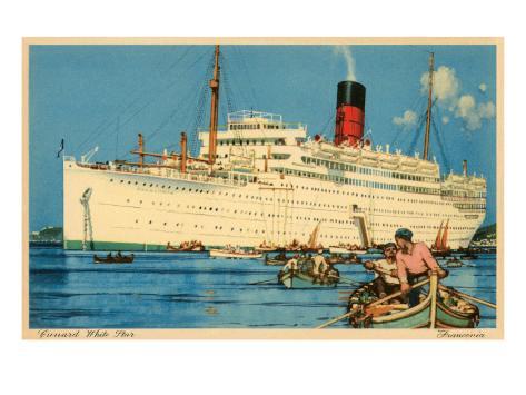 Cunard White Star Ocean Liner, Franconia Art Print