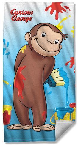 Curious George - Paint Beach Towel Beach Towel