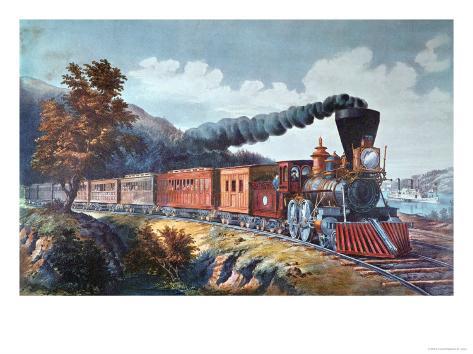 American Express Train, 1864 Giclee Print