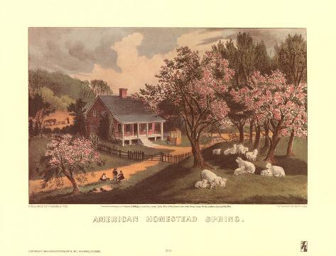 American Homestead Spring Art Print