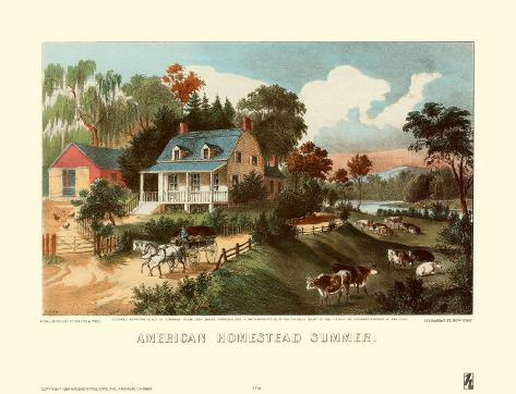 American Homestead Summer Art Print