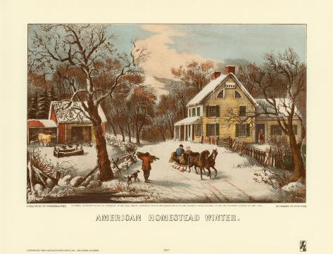 American Homestead Winter Art Print