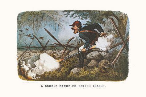 Double-Barreled Breech-Loader Art Print