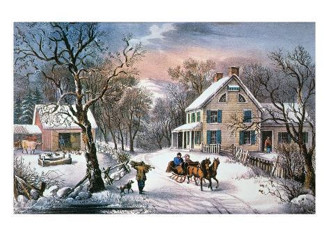 Homestead Winter, 1868 Giclee Print