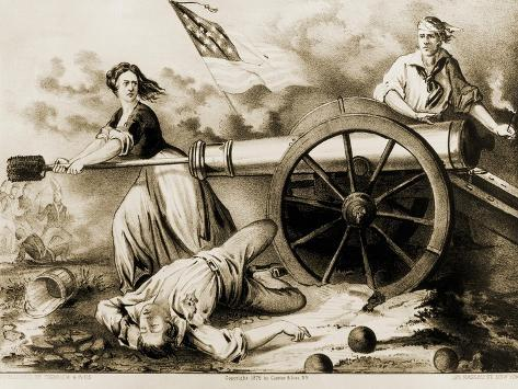 molly pitcher heroine of monmouth giclee print by currier ives