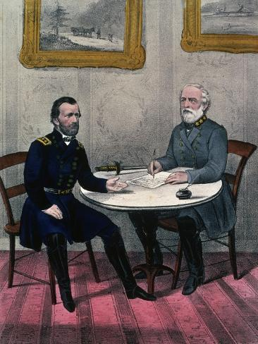 Surrender of General Lee, at Appomattox Court Giclee Print