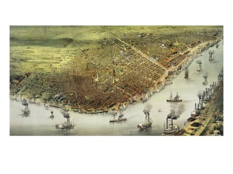 The City of New Orleans Giclee Print
