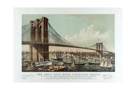 The Great East River Suspension Bridge Giclee Print