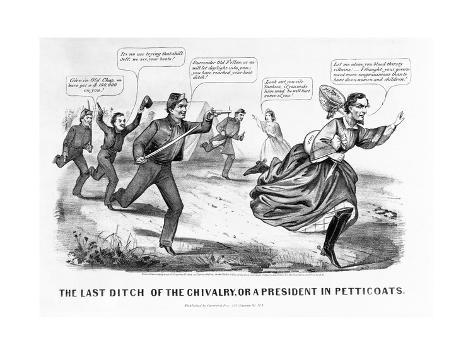 The Last Ditch of the Chivalry, or a President in Petticoats Giclee Print