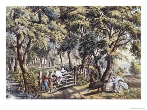 The Old Farm Gate Lámina giclée