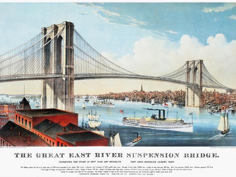 View of Brooklyn Bridge Giclee Print