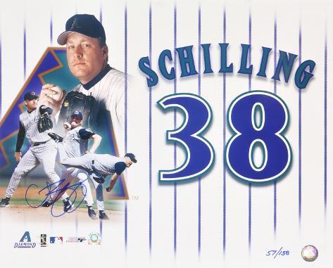 Curt Schilling Arizona Diamondbacks LE Collage Autographed Photo (H& Signed Collectable) Photo