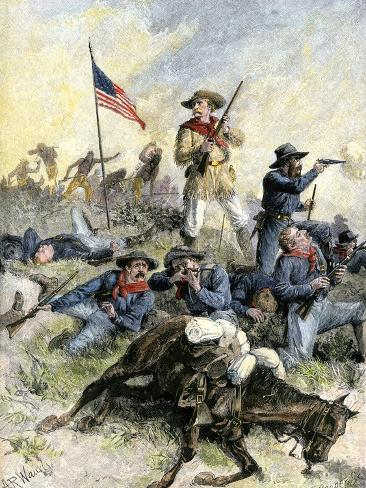 Custer's Last Stand at the Little Big Horn River, Montana, c.1876 Giclee Print