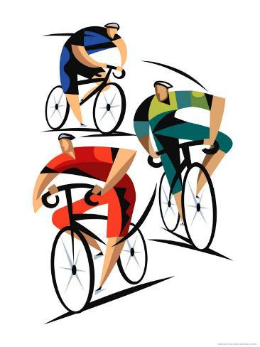 Cyclists Art Print