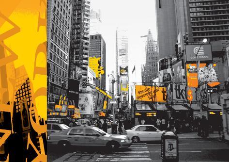 New York City in Yellow Art Print